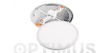 Bombillas - DOWNLIGHT LED AJUSTABLE BLANCO REDONDO 18 W 2000LM FRIA
