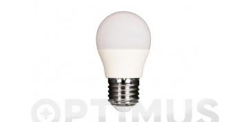 Bombillas - LAMPARA LED ESFERICA 480LM (5UNIDADES)E27 6W FRIA