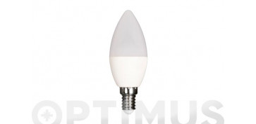 Bombillas - LAMPARA LED VELA 480LM (4UNIDADES)E14 6W FRIA