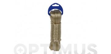 Cuerdas y cintas - CABLE ACERO PLASTIFICADO 3,5MM20 MT ORO