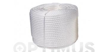 Cuerdas y cintas - CUERDA CABLEADA PP 4C 5 MM100 MT BLANCO