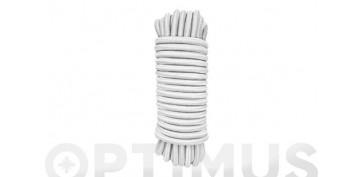 Cuerdas y cintas - CUERDA ELASTICA LATEX BLANCA6MM -10 MT