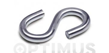 Cables y cadenas - GANCHO ESE GALVANIZADO (2 UNIDADES)Ø 6-55 MM