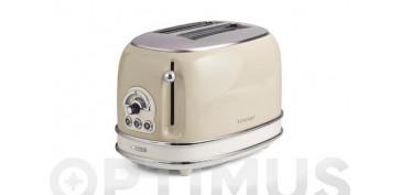 Electrodomesticos de cocina - TOSTADOR DOS RANURAS CORTAS VINTAGE 810W BEIGE