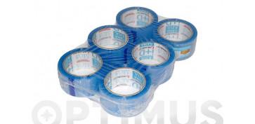Adhesivos - CINTA EMBALAR PACK GAMA AZUL132X48 TRANSPARENTE