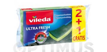 Utiles de limpieza - ESTROPAJO ULTRA FRESH2+1