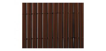 Cercado y ocultacion jardin - CAÑIZO SINTETICO PVC PLASTICANE OVAL 1 X 3 M CHOCOLATE