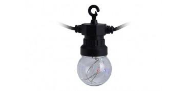 Iluminacion vivienda - GIRNALDA LED 10 LAMPARAS Ø5CM MICROLEDLUZ COLORES 3M