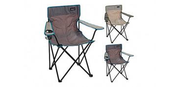 Camping, playa y aire libre - SILLA PLEGABLE CON BRAZOS CAMPING DE TELA81 X 51 X 42 CM