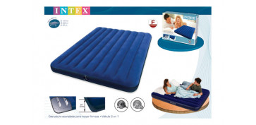 Camping, playa y aire libre - COLCHON-CAMA HINCHABLE CLASSIC152X203X22CM