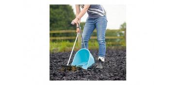Herramienta manual de jardin - PALA RECOGERA Y RASTRILLO GORILACOLOR AZUL