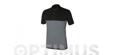 Vestuario laboral - POLO STRETCH GRIS/NEGROTALLA 3XL