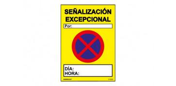 Señalizacion - SEÑAL PVC SEÑALIZACION EXCEPCIONAL700X500 MM
