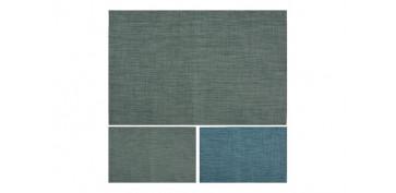 Textil y costura - MANTEL INDIVIDUAL POLYESTER 45X30SURTIDOS AZUL/VERDE