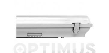 Iluminacion vivienda - PANTALLA LED 1TUBO LED IP659W 60CM