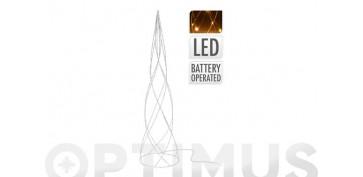 PIRAMIDE METALICA LED60 CM PLATA