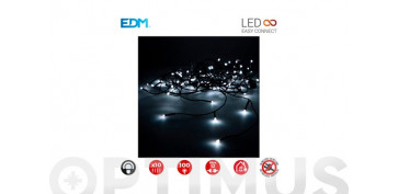 Decoración - CORTINA LED  EASY-CONNECT C.VERDE2X1M-BLANCO FRIO
