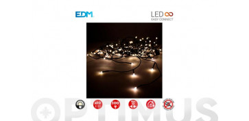 Decoración - CORTINA LED  EASY-CONNECT C.VERDE2X1M-BLANCO CALIDO