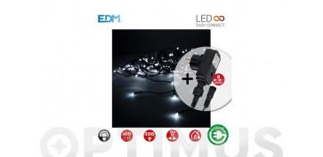 Decoración - CORTINA LED CON PROGRAMADOR C.VERDE2X1M-BLANCO FRIO