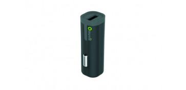 Telefonia - CARGADOR/TRANSFORMADOR AUTO USB 2,4ANEGRO