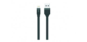 Telefonia - CABLE CARGADOR USB-LIGHTNING APPLE MFI 2,4A 1MNEGRO