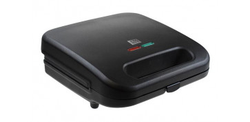 Electrodomesticos de cocina - SANDWICHERA CON PLACAS GRILL800 W NEGRO