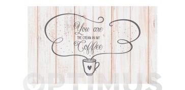 Decoración - ALFOMBRA VINILICA CROMA 45X75 CMTXT COFFEE