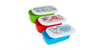 Reutilizable Eco-Friendly - CONTENEDOR PORTA ALIMENTOS INFANTIL SET 3UJUNGLA