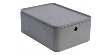 Cajas y baules - CAJA BETON CUBE L8,5L GRIS CEMENTO