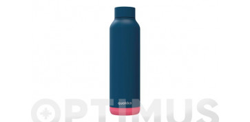 Reutilizable Eco-Friendly - BOTELLA TERMO INOX SOLID 630 ML AZUL MARINO VIVO ROSA