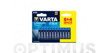 Pilas y baterías - PILA ALCALINA LONG LIFELR03 AAA BL.8+4