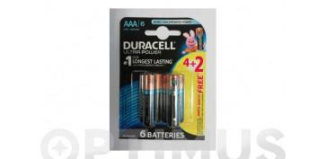 Pilas y baterías - PILA ALCALINA ULTRA POWERLR 03 AAA BL.4+2