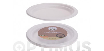 Vajillas - PLATO POSTRE DESECHABLE BIODEGRADABLE (PACK 8 U)Ø 17 CM