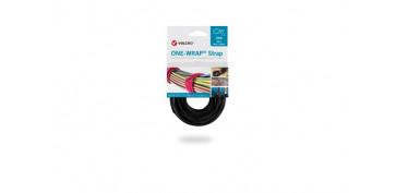 Adhesivos - BRIDA CIERRE GANCHO Y BUCLE ONE-WRAP STRAP (25 UN)20X200 MM NEGRO