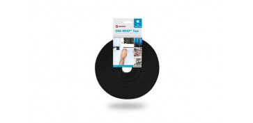 Adhesivos - BRIDA CINTA GANCHO Y BUCLE ONE-WRAP TAPE13 MM X 25 M NEGRO