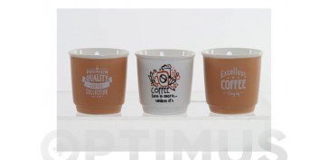 Vajillas - TAZA CAFE NEW BONE CREMA9 CL SURTIDO