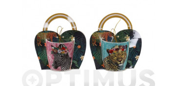 Vajillas - MUG PORCELANA SET REGALO ANIMAL36 CL SURTIDO