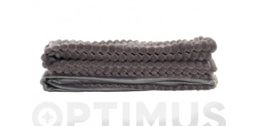 Textil y costura - MANTA POLIESTER 380 GR. 130X170 CM GRIS OSCURO