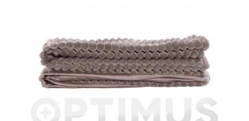 Textil y costura - MANTA POLIESTER 380 GR. 130X170 CM MARRON