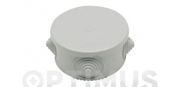 Material instalacion electrico - CAJA ESTANCA REDONDA IP55 74X50CON CONOS
