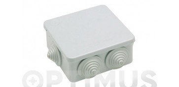 Material instalacion electrico - CAJA ESTANCA IP55 78X78X50CON CONOS
