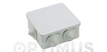 Material instalacion electrico - CAJA ESTANCA IP55 94X94X50CON CONOS