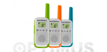 INTERCOMUNICADOR WALKIE TALKIETRIPLE PACK RED