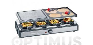 Electrodomesticos de cocina - RACLETTE GRILL PIEDRA 8 PERSONAS 1400 W