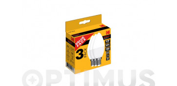 Bombillas - LAMPARA VELA LED C37 (PACK 3 UNIDADES)6W CALIDO