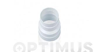 Ventiladores y extractores - ARO REDUCTOR TUBO EXTRACCION PVCØ125X100MM