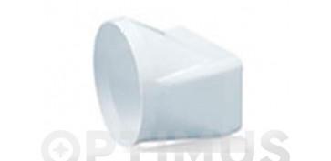 Ventiladores y extractores - EMPALME MIXTO TUBO EXTRACCION PVCØ120-150 X 75 MM