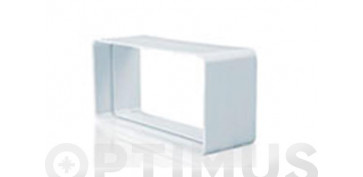 Ventiladores y extractores - EMPALME RECTANGULAR TUBO EXTRACCION PVC110 X 55 MM