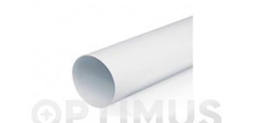 Ventiladores y extractores - TUBO EXTRACCION PVC REDONDO1M - Ø120