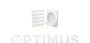 Ventiladores y extractores - VENTANILLA REJILLA TUBO EXTRACCION PVC EXTØ 100 MM